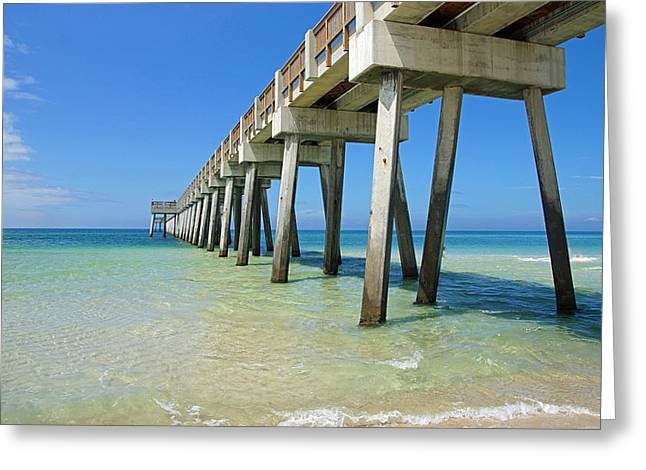The Pier Greeting Card by Thomas Fouch