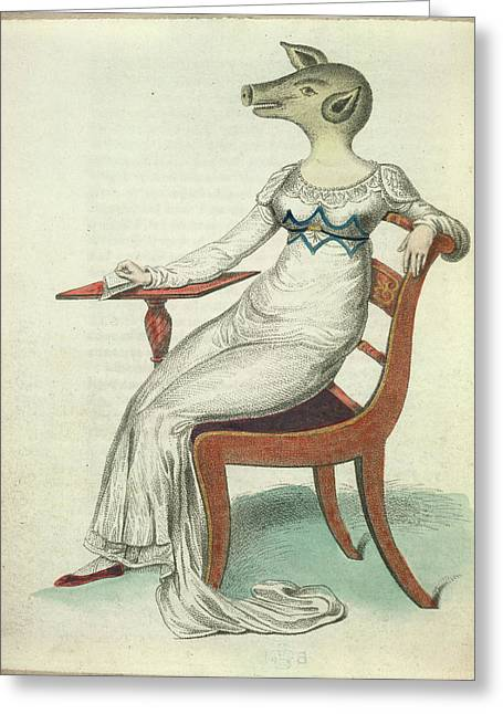 The Pig-faced Lady Greeting Card by British Library