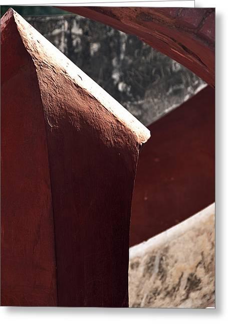 The Pillar Stands Greeting Card by Rajiv Chopra