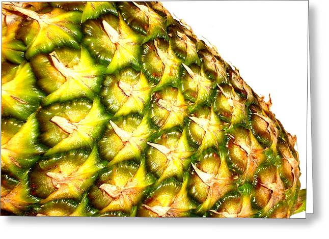 The Pineapple Greeting Card by Saad Hasnain