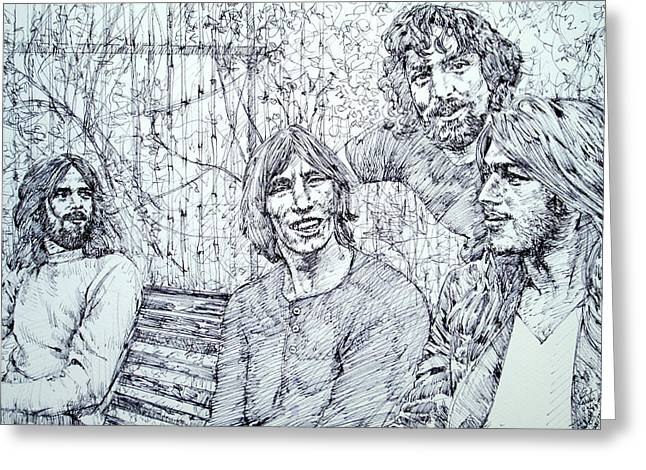 the PINK FLOYD  - drawing portrait Greeting Card