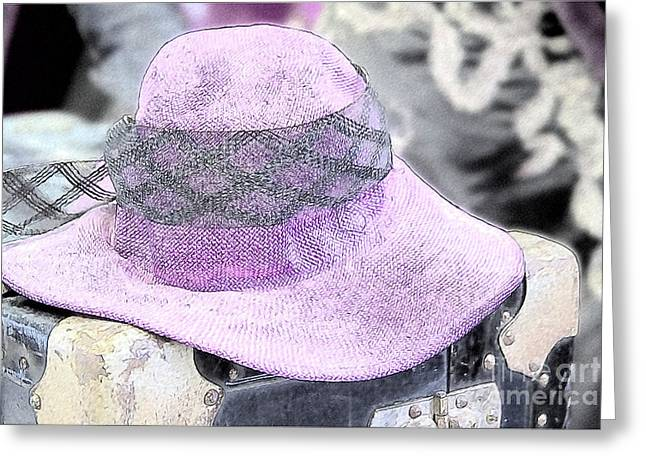 The Pink Lady's Hat Greeting Card by Heiko Koehrer-Wagner