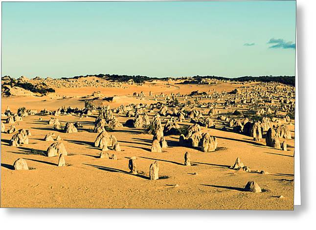 Greeting Card featuring the photograph The Pinnacles Australia by Yew Kwang