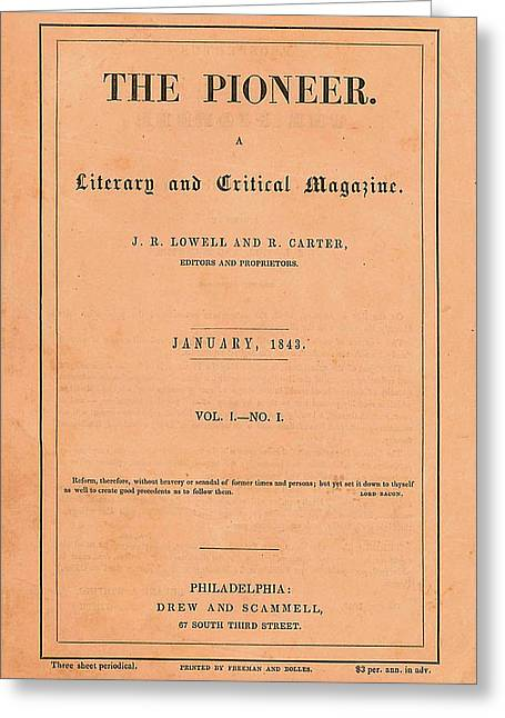 The Pioneer Literary Magazine Greeting Card