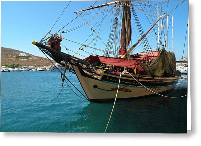 The Pirate Ship  Greeting Card