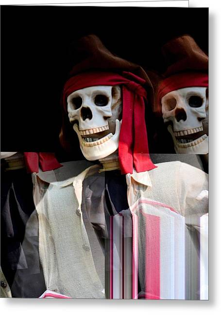 The Pirate's Ghost Greeting Card by Maria Urso
