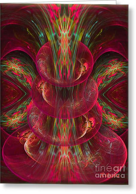 The Playground In My Mind 2 - Abstract Fantasy Art By Giada Rossi Greeting Card by Giada Rossi
