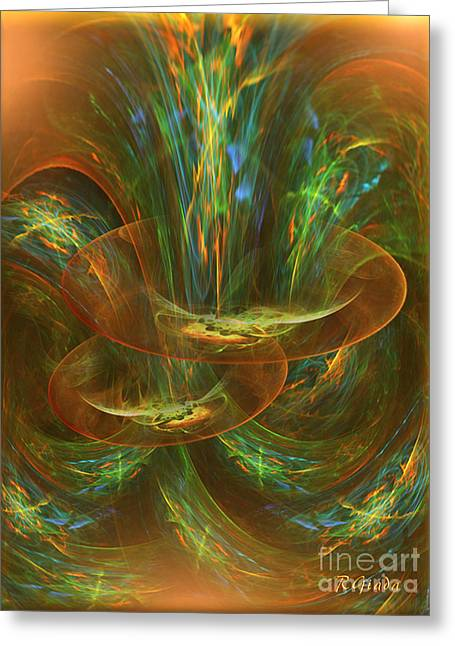 The Playground In My Mind - Abstract Fantasy Art By Giada Rossi Greeting Card by Giada Rossi