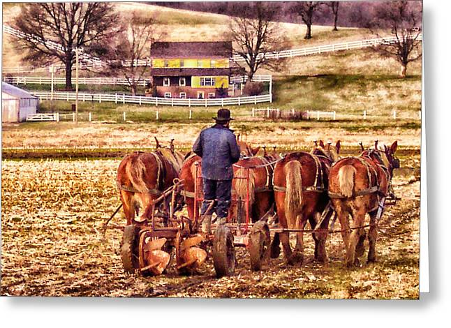 The Plow Greeting Card by B Wayne Mullins