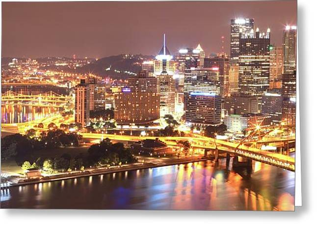 The Point To Ft. Pitt Greeting Card by Adam Jewell