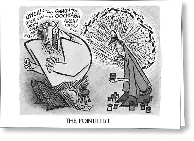 The Pointillist Greeting Card by Arnold Roth