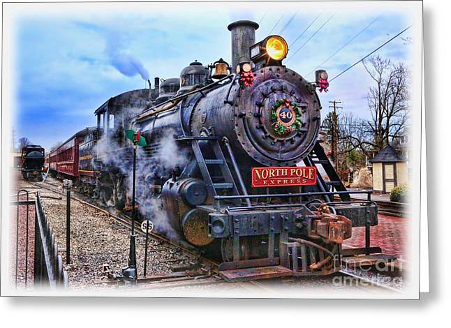 The Polar Express - Steam Locomotive II Greeting Card by Lee Dos Santos