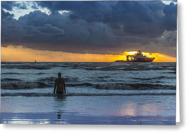 The Polar King From Crosby Beach Greeting Card