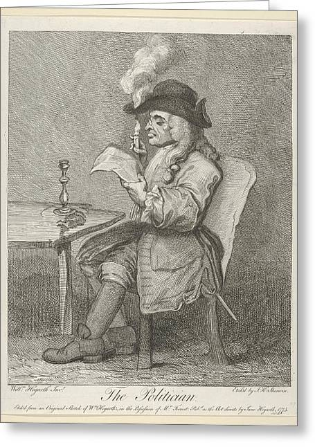 The Politician Greeting Card by After William Hogarth
