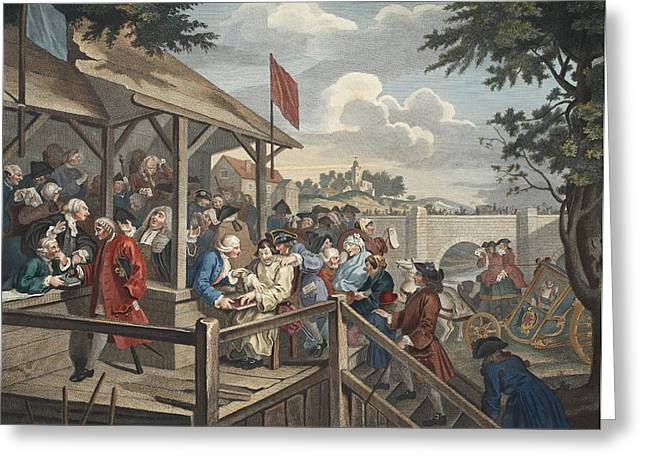 The Polling, Illustration From Hogarth Greeting Card by William Hogarth