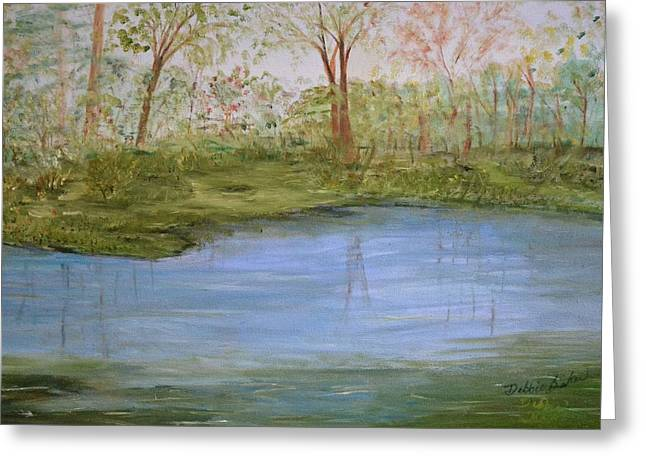 The Pond Greeting Card by Debbie Baker