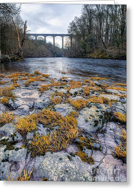 The Pontcysyllte Aqueduct Greeting Card by Adrian Evans