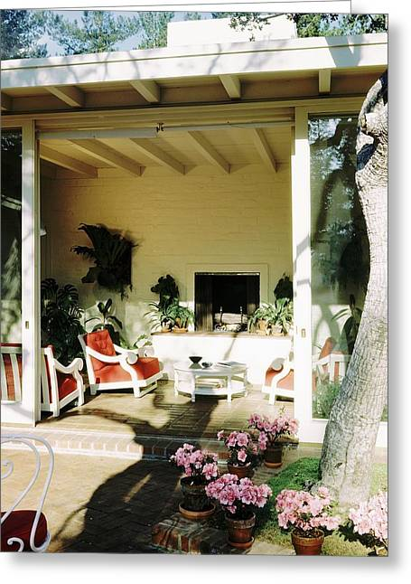 The Porch Of Mr. And Mrs. George L. Elkins Greeting Card