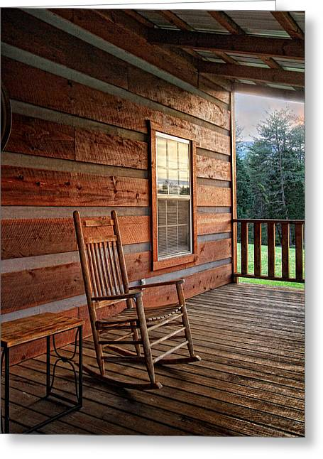 The Porch Greeting Card by Victoria Winningham
