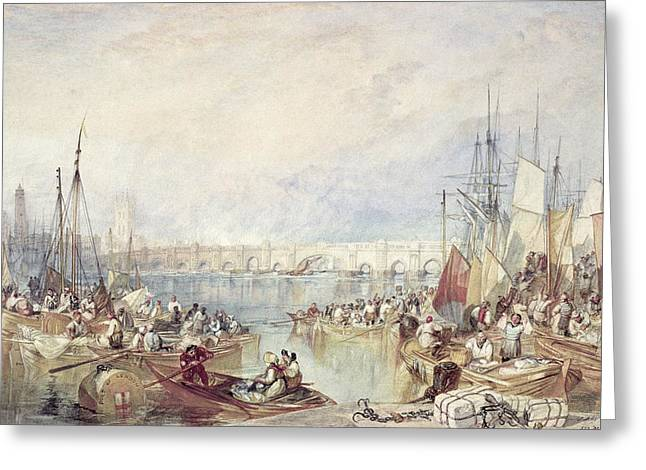 The Port Of London Greeting Card by Joseph Mallord William Turner