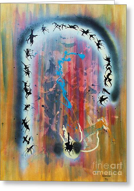 The Portal Of Life Greeting Card by Roberto Prusso