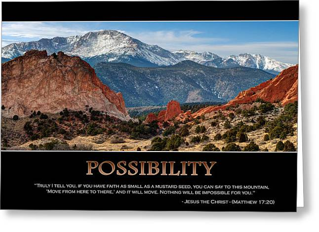 The Possibilities - Inspirational Panorama Greeting Card