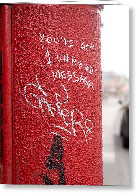The Post Box With Messages Greeting Card by Aston Peters