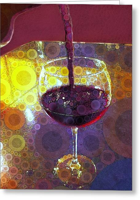 The Pour Greeting Card by Cindy Edwards