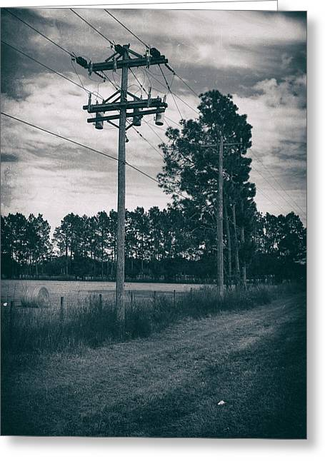 The Power Lines  Greeting Card by Howard Salmon