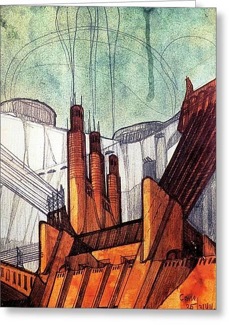 The Power Plant #1 Greeting Card by Loris Bagnara