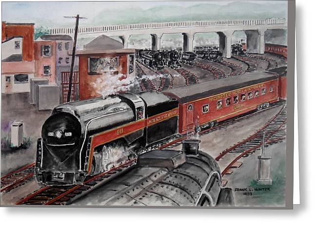 The Powhatan Arrow Roars Through The Yards Into Portmouth Greeting Card