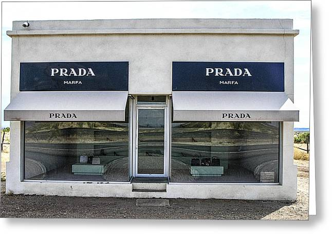 The Prada Installation In Marfa Greeting Card by Rebecca Dru