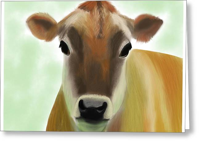 The Pretty Jersey Cow  Greeting Card