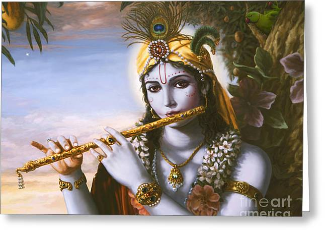 The Primordial Flute Player Greeting Card