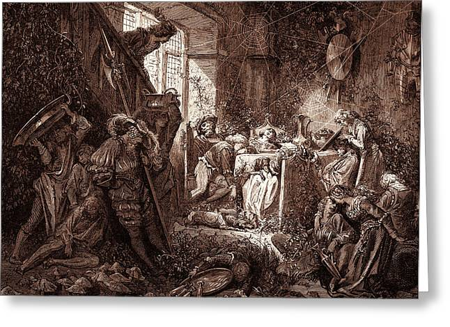 The Prince In The Banqueting-hall, By Gustave Dore Greeting Card