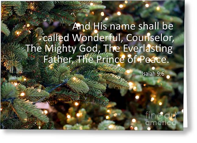 The Prince Of Peace Greeting Card by Beverly Guilliams