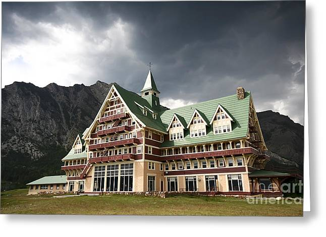 The Prince Of Wales Hotel Waterton Lakes Np  Greeting Card by Teresa Zieba