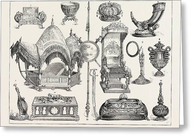 The Prince Of Wales Indian Jewellery At South Kensington Greeting Card