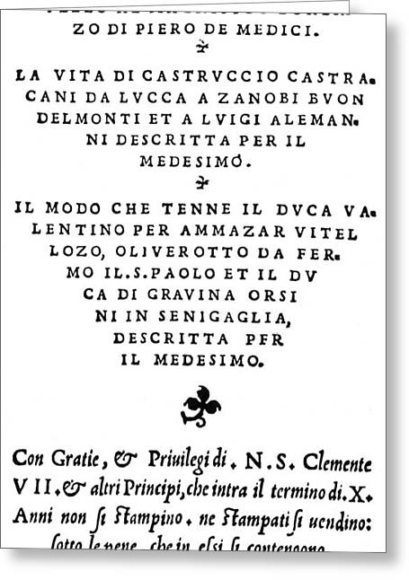 The Prince Title-page Greeting Card