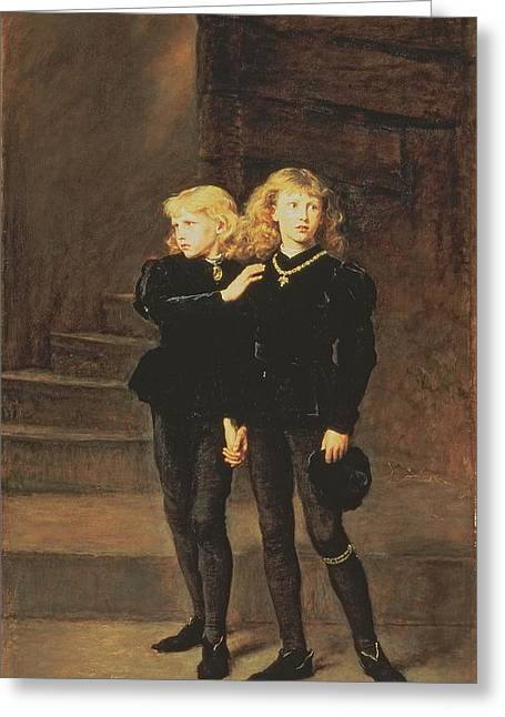 The Princes Edward And Richard Greeting Card by Sir John Everett Millais