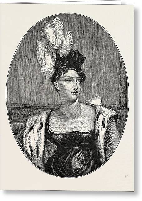 The Princess Charlotte Augusta Greeting Card by Welsh School