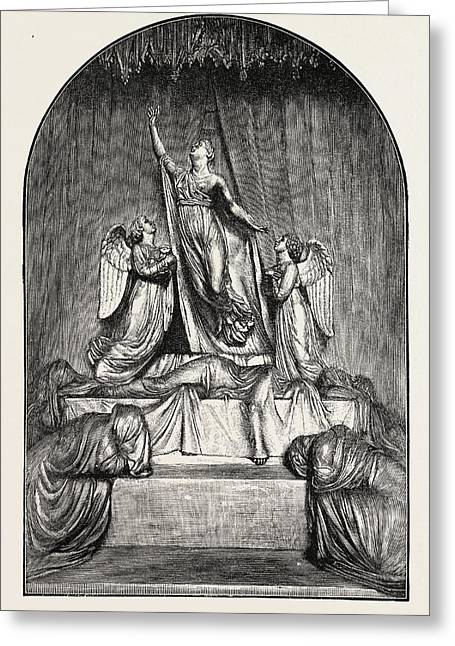 The Princess Charlotte Monument. The Princess Charlotte Greeting Card by Welsh School