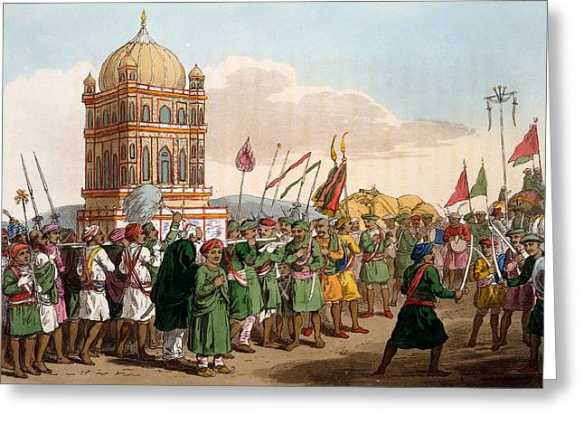 The Procession Of The Taziya, From The Greeting Card by Deen Alee