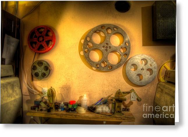 The Projection Room 4675 Greeting Card by Timothy Bischoff