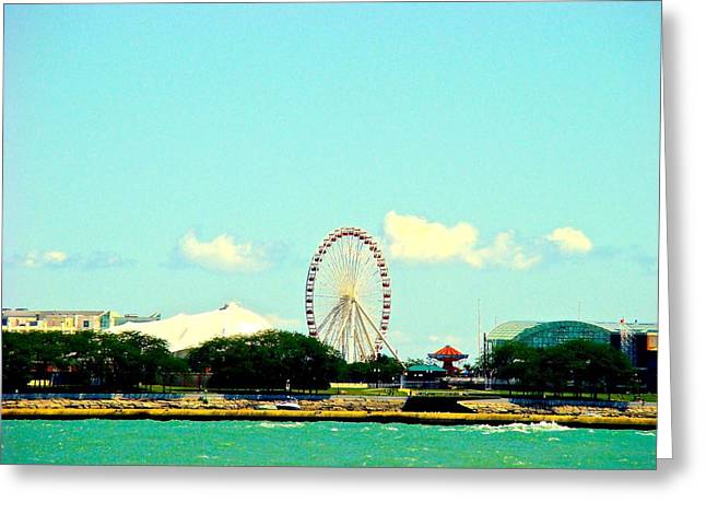 The Promise Of A Ferris Wheel Greeting Card