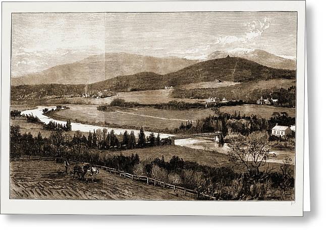 The Proposed Railway Near Balmoral, Scotland Greeting Card by Litz Collection