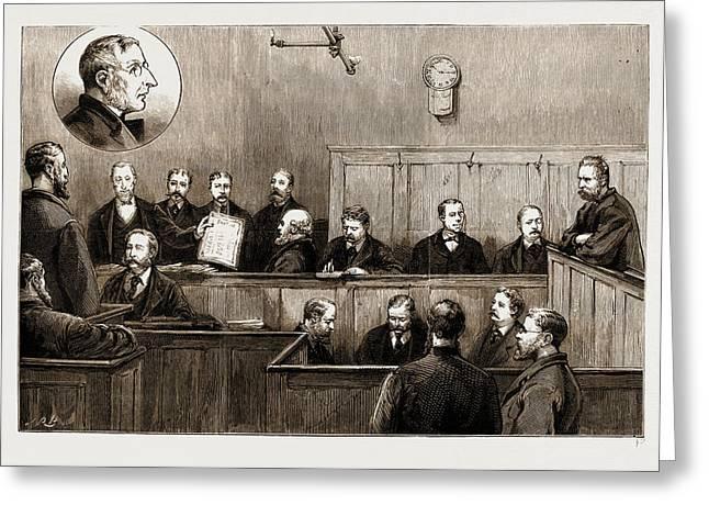 The Prosecution Of The Freiheit Examination Of Herr Johann Greeting Card