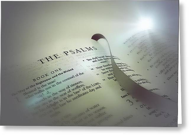 The Psalms Greeting Card by Anne Macdonald