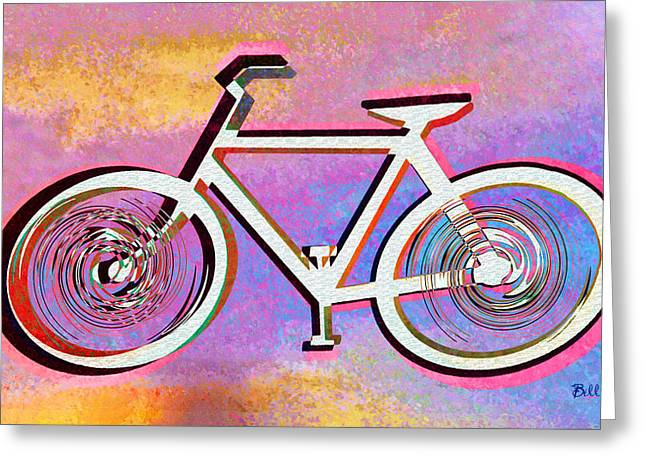 The Psychedelic Bicycle Greeting Card by Bill Cannon