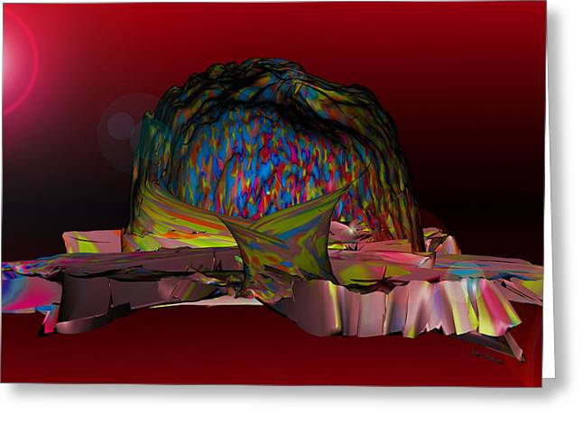 The Psychedelic Hat Island C 11 Greeting Card by Sir Josef - Social Critic -  Maha Art